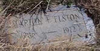 ELSTON, MARION F. - Elbert County, Colorado | MARION F. ELSTON - Colorado Gravestone Photos