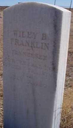 FRANKLIN, WILEY B. - Elbert County, Colorado   WILEY B. FRANKLIN - Colorado Gravestone Photos