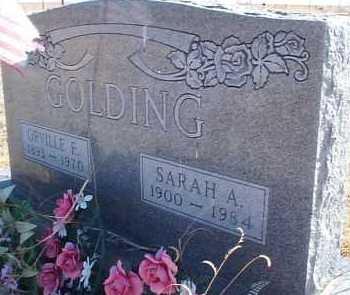 GOLDING, SARAH A. - Elbert County, Colorado | SARAH A. GOLDING - Colorado Gravestone Photos