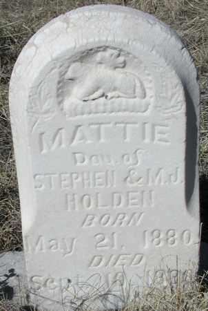 HOLDEN, MATTIE - Elbert County, Colorado   MATTIE HOLDEN - Colorado Gravestone Photos