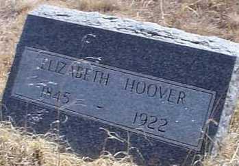 HOOVER, ELIZABETH - Elbert County, Colorado | ELIZABETH HOOVER - Colorado Gravestone Photos