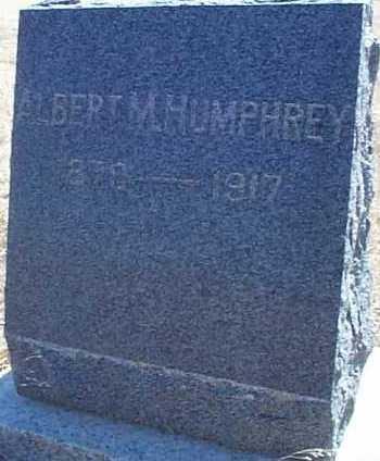 HUMPHREY, ALBERT M. - Elbert County, Colorado   ALBERT M. HUMPHREY - Colorado Gravestone Photos