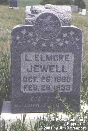 JEWELL, L. ELMORE - Elbert County, Colorado | L. ELMORE JEWELL - Colorado Gravestone Photos