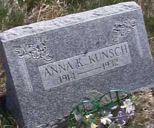 KUNSCH, ANNA K. - Elbert County, Colorado | ANNA K. KUNSCH - Colorado Gravestone Photos