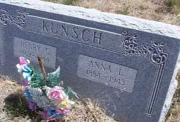 KUNSCH, ANNA L. - Elbert County, Colorado | ANNA L. KUNSCH - Colorado Gravestone Photos