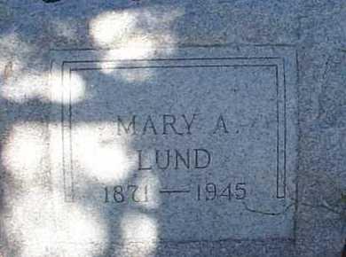 LUND, MARY A. - Elbert County, Colorado | MARY A. LUND - Colorado Gravestone Photos