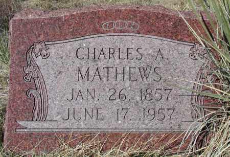 MATHEWS, CHARLES A - Elbert County, Colorado | CHARLES A MATHEWS - Colorado Gravestone Photos