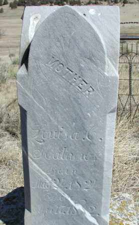 MATHEWS, LOUISA - Elbert County, Colorado | LOUISA MATHEWS - Colorado Gravestone Photos