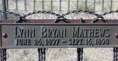 MATHEWS, LYNN BRYAN - Elbert County, Colorado | LYNN BRYAN MATHEWS - Colorado Gravestone Photos