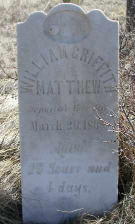 MATHEWS, WILLIAM GRIFFITH - Elbert County, Colorado | WILLIAM GRIFFITH MATHEWS - Colorado Gravestone Photos