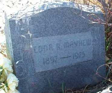 MAYHEW, EDNA R. - Elbert County, Colorado   EDNA R. MAYHEW - Colorado Gravestone Photos