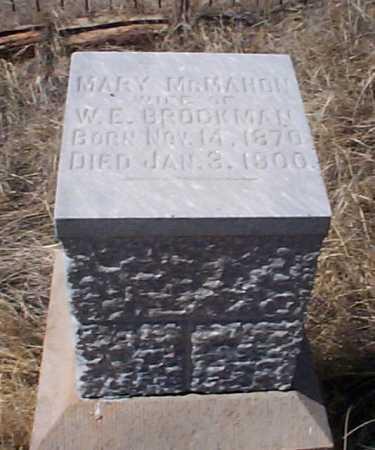 MCMAHON BROCKMAN, MARY - Elbert County, Colorado | MARY MCMAHON BROCKMAN - Colorado Gravestone Photos