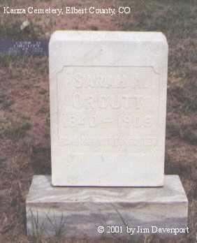 ORCUTT, SARAH A. - Elbert County, Colorado | SARAH A. ORCUTT - Colorado Gravestone Photos