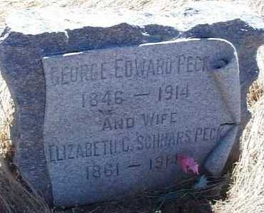 PECK, GEORGE EDWARD - Elbert County, Colorado | GEORGE EDWARD PECK - Colorado Gravestone Photos