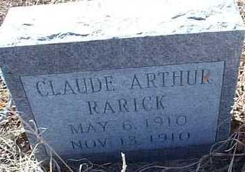 RARICK, CLAUDE ARTHUR - Elbert County, Colorado | CLAUDE ARTHUR RARICK - Colorado Gravestone Photos