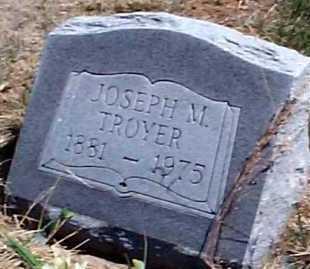 TROYER, JOSEPH M. - Elbert County, Colorado   JOSEPH M. TROYER - Colorado Gravestone Photos