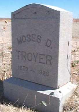 TROYER, MOSES D. - Elbert County, Colorado | MOSES D. TROYER - Colorado Gravestone Photos
