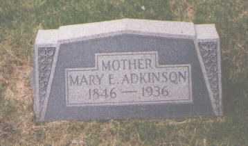 ADKINSON, MARY E. - El Paso County, Colorado | MARY E. ADKINSON - Colorado Gravestone Photos