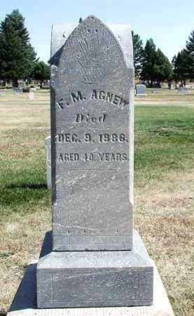 AGNEW, F.M. - El Paso County, Colorado | F.M. AGNEW - Colorado Gravestone Photos