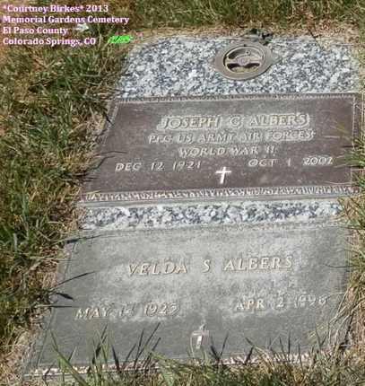 ALBERS, VELDA - El Paso County, Colorado | VELDA ALBERS - Colorado Gravestone Photos