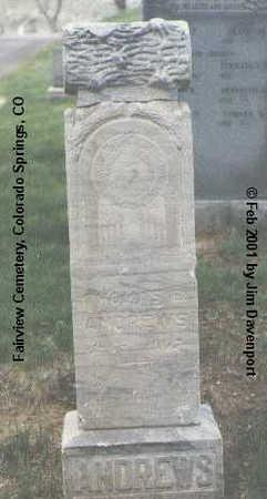 ANDREWS, THOMAS E. - El Paso County, Colorado   THOMAS E. ANDREWS - Colorado Gravestone Photos