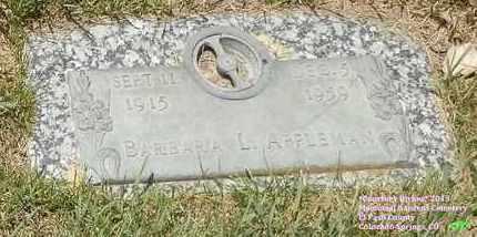 APPLEMAN, BARBARA L. - El Paso County, Colorado | BARBARA L. APPLEMAN - Colorado Gravestone Photos