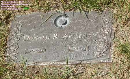 APPLEMAN, DONALD R. - El Paso County, Colorado | DONALD R. APPLEMAN - Colorado Gravestone Photos