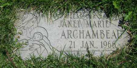 ARCHAMBEAU, JANET MARIE - El Paso County, Colorado   JANET MARIE ARCHAMBEAU - Colorado Gravestone Photos