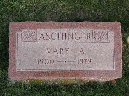ASCHINGER, MARY A. - El Paso County, Colorado | MARY A. ASCHINGER - Colorado Gravestone Photos