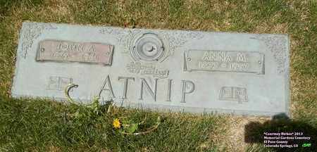 ATNIP, JOHN A. - El Paso County, Colorado | JOHN A. ATNIP - Colorado Gravestone Photos