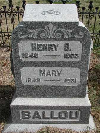 BALLOU, MARY - El Paso County, Colorado   MARY BALLOU - Colorado Gravestone Photos