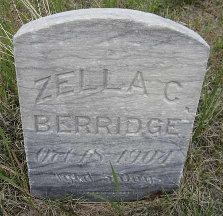 BERRIDGE, ZELLA C. - El Paso County, Colorado | ZELLA C. BERRIDGE - Colorado Gravestone Photos