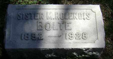 BOLTE, SISTER M ROLENDIS - El Paso County, Colorado   SISTER M ROLENDIS BOLTE - Colorado Gravestone Photos