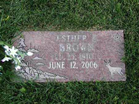 BROWN, ESTHER B. - El Paso County, Colorado | ESTHER B. BROWN - Colorado Gravestone Photos