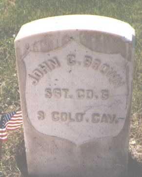 BROWN, JOHN G. - El Paso County, Colorado | JOHN G. BROWN - Colorado Gravestone Photos