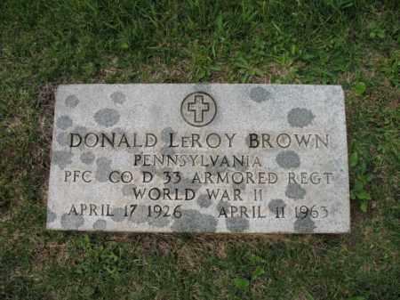BROWN (VETERAN WWII), DONALD LEROY (NEW) - El Paso County, Colorado | DONALD LEROY (NEW) BROWN (VETERAN WWII) - Colorado Gravestone Photos