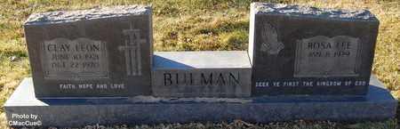 BULMAN, CLAY LEON - El Paso County, Colorado   CLAY LEON BULMAN - Colorado Gravestone Photos