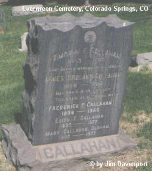 CALLAHAN, AGNES - El Paso County, Colorado | AGNES CALLAHAN - Colorado Gravestone Photos