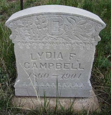 CAMPBELL, LYDIA F. - El Paso County, Colorado | LYDIA F. CAMPBELL - Colorado Gravestone Photos