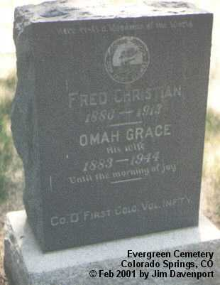 CHRISTIAN, OMAH GRACE - El Paso County, Colorado | OMAH GRACE CHRISTIAN - Colorado Gravestone Photos