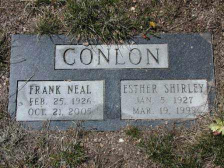 CONLON, ESTHER - El Paso County, Colorado | ESTHER CONLON - Colorado Gravestone Photos