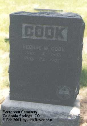 COOK, GEORGE W. - El Paso County, Colorado | GEORGE W. COOK - Colorado Gravestone Photos