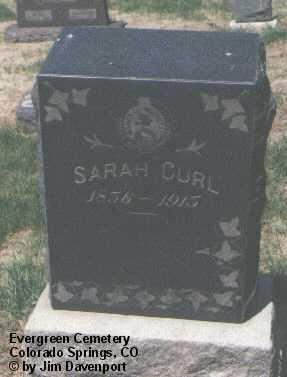 CURL, SARAH - El Paso County, Colorado | SARAH CURL - Colorado Gravestone Photos