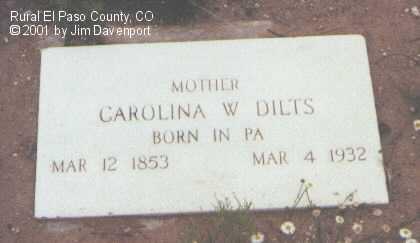 DILTS, CAROLINE W. - El Paso County, Colorado | CAROLINE W. DILTS - Colorado Gravestone Photos