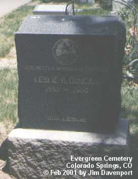 DUNCAN, LESLIE R. - El Paso County, Colorado | LESLIE R. DUNCAN - Colorado Gravestone Photos