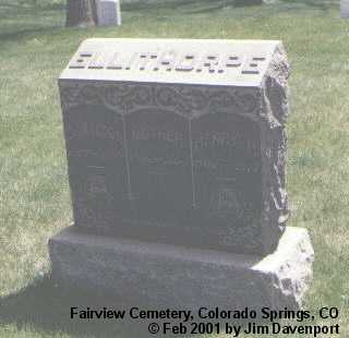 ELLITHORPE, MOTHER - El Paso County, Colorado | MOTHER ELLITHORPE - Colorado Gravestone Photos