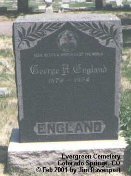 ENGLAND, GEORGE H. - El Paso County, Colorado | GEORGE H. ENGLAND - Colorado Gravestone Photos