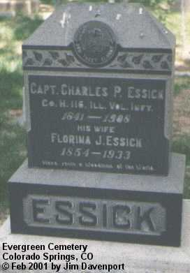 ESSICK, FLORINA J. - El Paso County, Colorado | FLORINA J. ESSICK - Colorado Gravestone Photos