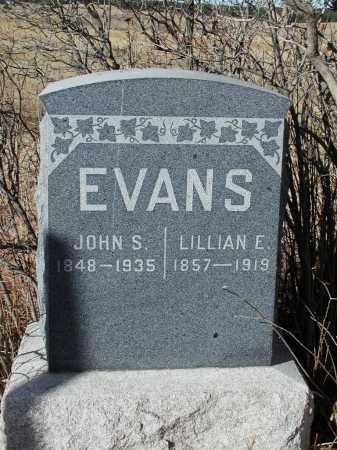 EVANS, JOHN S. - El Paso County, Colorado | JOHN S. EVANS - Colorado Gravestone Photos