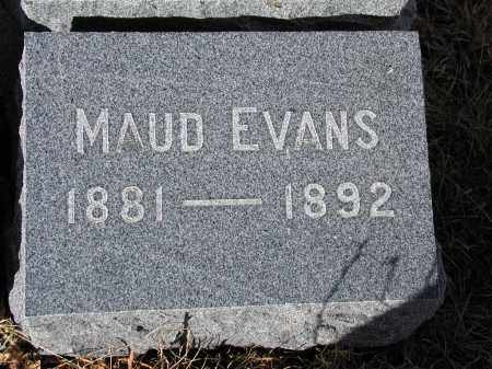 EVANS, MAUD - El Paso County, Colorado   MAUD EVANS - Colorado Gravestone Photos